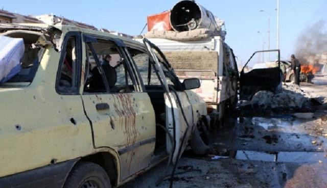 سقوط 14 قتيلا و70 جريحا في انفجار في بلدة سورية قرب الحدود مع تركيا