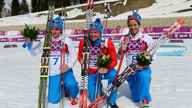 روسيا تحسم صدارتها لأولمبياد سوتشي بفوزها بالميداليات الثلاث لسباق التزلج لمسافة 50 كلم