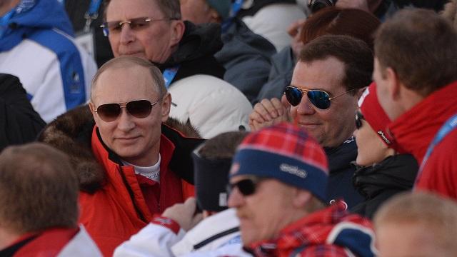 بوتين يهنئ البطل الاولمبي فيكتور وايلد
