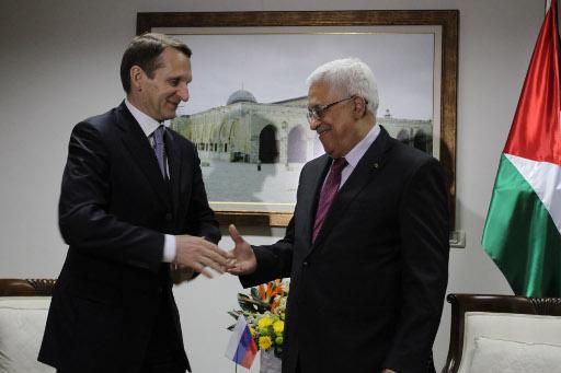 رئيس مجلس الدوما الروسي يبحث مع عباس العلاقات الثنائية والوضع في المنطقة