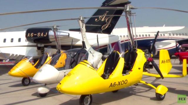 معرض أبوظبي للطائرات الخاصة الفاخرة (فيديو)