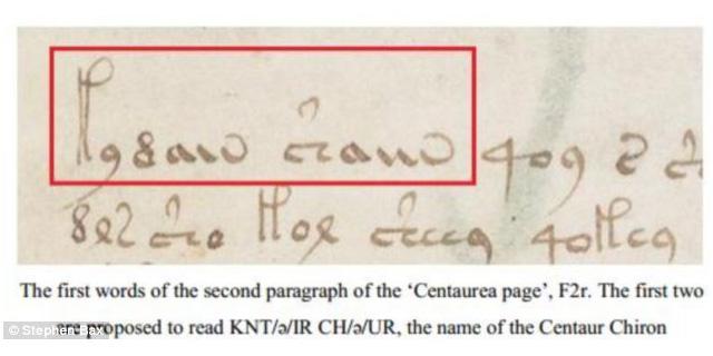 فك شفرة بعض الكلمات في مخطوطة فوينيتش