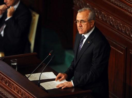 سليمان يدعو السوريين الى عدم استهداف الداخل اللبناني