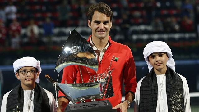 المايسترو فيدرر بطلاً لدورة دبي للتنس للمرة السادسة