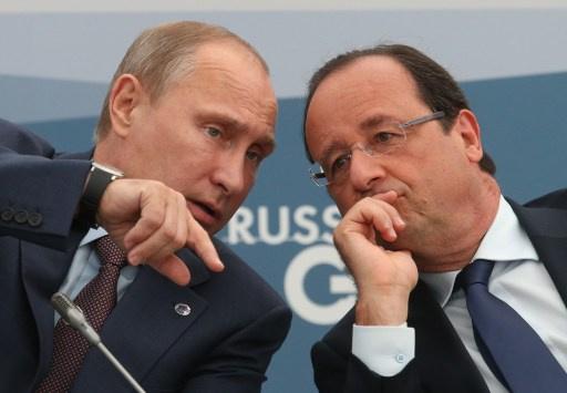 بوتين يبحث مع هولاند الوضع في أوكرانيا
