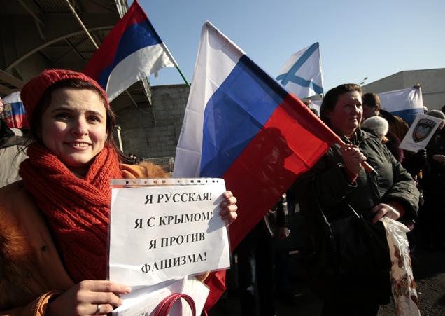 عشرات الآلاف من الروس يتظاهرون احتجاجا على سياسة المستولين على السلطة في كييف