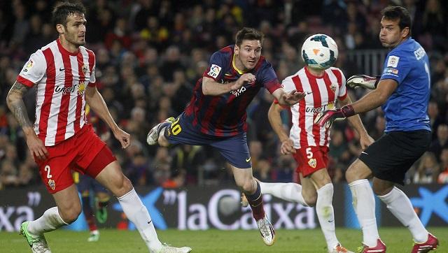 برشلونة يجهز على ضيفه ألميريا ويستعيد وصافة الليغا من اتلتيكو مدريد
