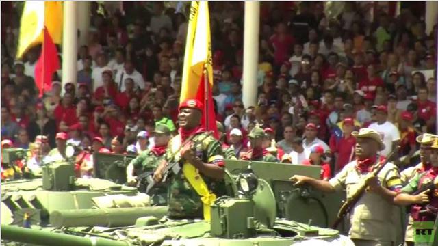 عرض عسكري في كاراكاس إحياء للذكرى الأولى لوفاة تشافيز(فيديو)