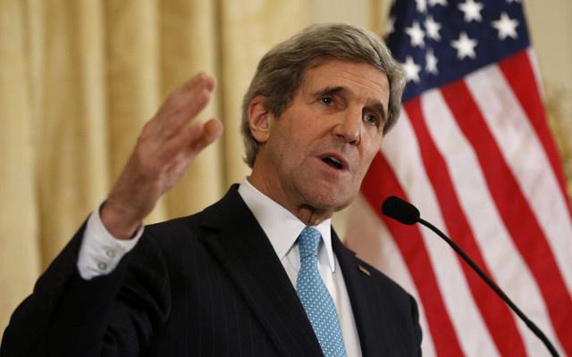 كيري يبحث عملية السلام في الشرق الأوسط مع العاهل الأردني عبدالله الثاني