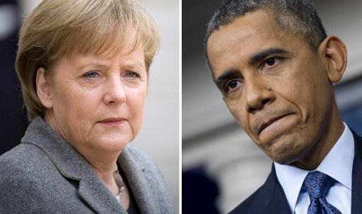 أوباما وميركل يدعوان للحوار بين روسيا وأوكرانيا