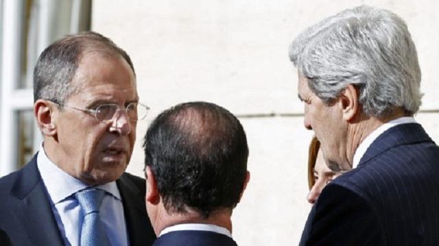 لافروف وكيري يبحثان الأزمة الأوكرانية مجددا ويتفقان على مواصلة الحوار