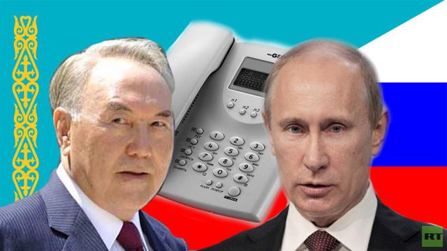 بوتين ونزاربايف يناقشان هاتفيا الأزمة في أوكرانيا