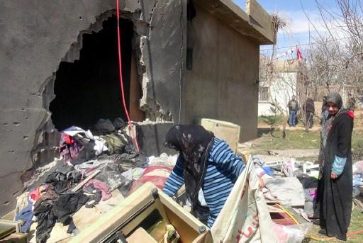 سليمان يدعو اطراف النزاع السوري الى تحييد القرى اللبنانية بعد اصابات في سقوط صواريخ على لبنان مصدرها سورية