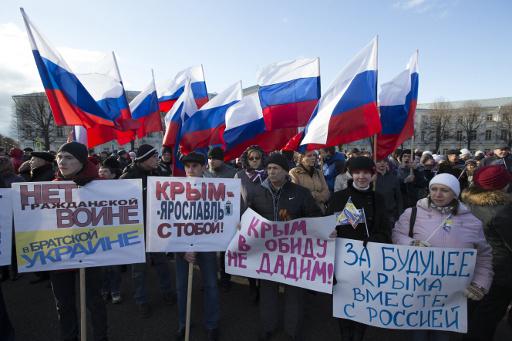 30 الفا يتظاهرون في مدن روسية دعما للشعب الأوكراني