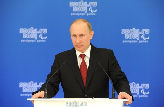 بوتين: باراولمبياد سوتشي بقي بعيدا عن السياسة وروسيا ليست المبادرة بخلق الظروف الصعبة