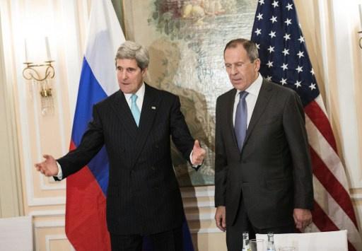 لافروف وكيري يبحثان الأزمة الاوكرانية عشية لقائهما في لندن