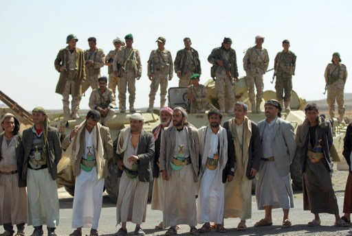 آلاف الحوثيين يخرجون في تظاهرة شمال اليمن