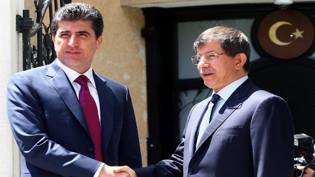 بارزاني وأوغلو يعلنان عن إفتتاح 5 معابر جديدة بين تركيا والإقليم