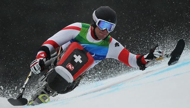 السويسري كونتس يحرز الميدالية الأولى لبلاده في باراولمبياد سوتشي 2014