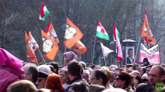 الإحتفالات بذكرى الثورة المجرية (فيديو)