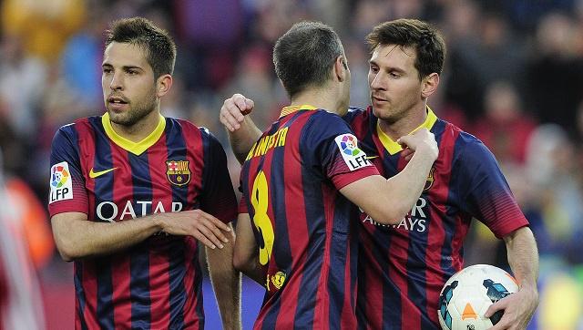 برشلونة يمطر شباك ضيفه أوساسونا بسبعة أهداف دون رد