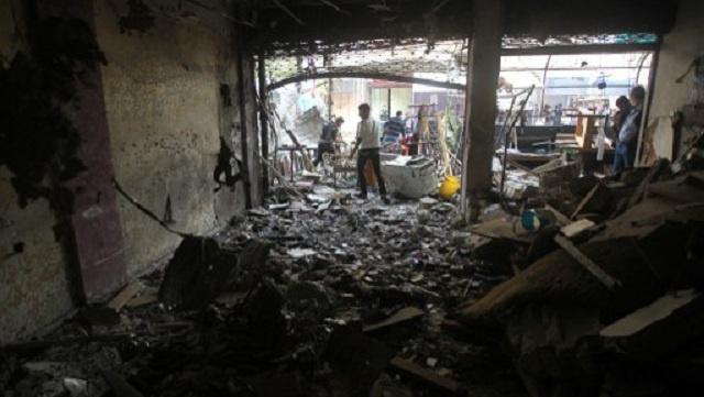مقتل 12 شخصا وجرح نحو 40 في هجوم انتحاري على مقهى في بغداد