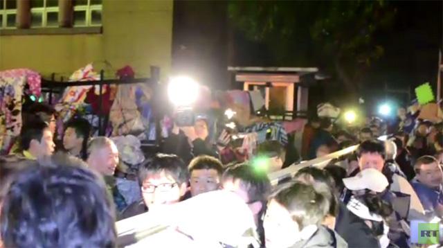 مظاهرات في تايوان احتجاجا على اتفاقية التجارة المبرمة مع الصين (فيديو)