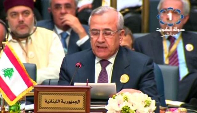 الرئيس اللبناني يؤكد ضرورة تغليب منطق التفاوض والحوار لحل الأزمة السورية