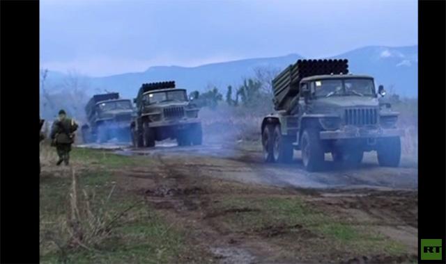 تدريبات صاروخية روسية في أبخازيا (فيديو)