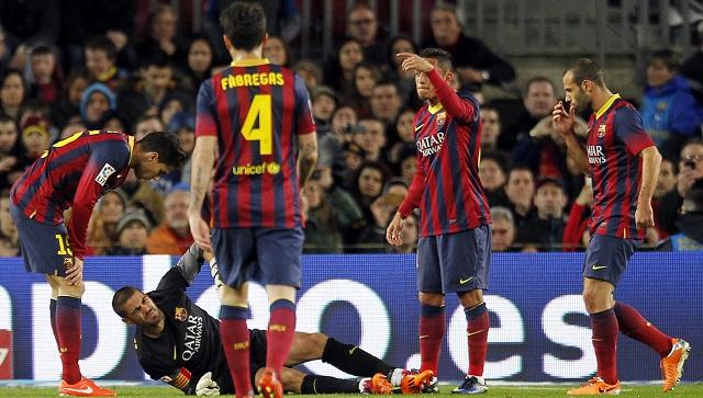 الإصابة تحرم الماتادور فالديز من مونديال 2014 وتنهي مشواره مع برشلونة