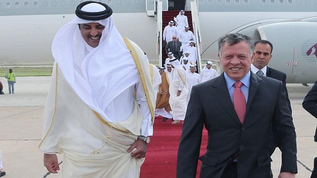 أمير قطر يبحث مع العاهل الاردني العلاقات الثنائية والملفات الإقليمية