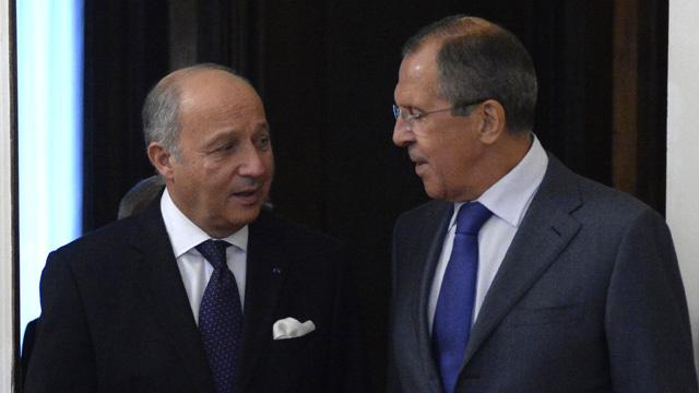 لافروف يلتقي فابيوس في باريس