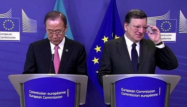 بان كي مون يدعو إلى حل الأزمة الأوكرانية بالوسائل الدبلوماسية