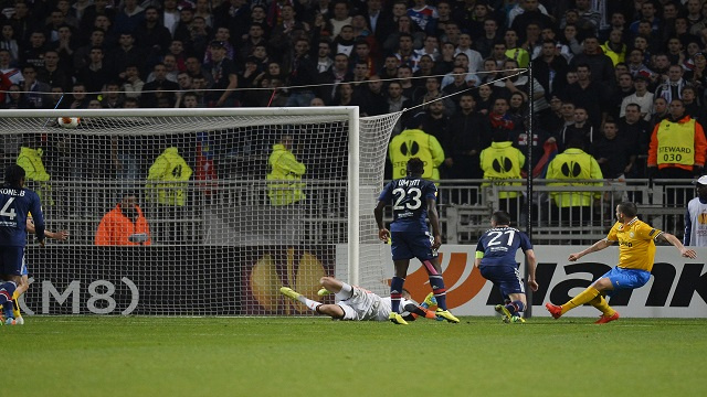 بونوتشي يقود يوفنتوس الى الفوز على ليون في ربع نهائي الدوري الأوروبي