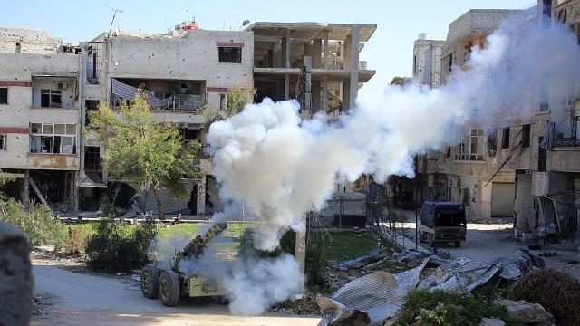 الجيش السوري يكثف من عملياته في الغوطة الشرقية