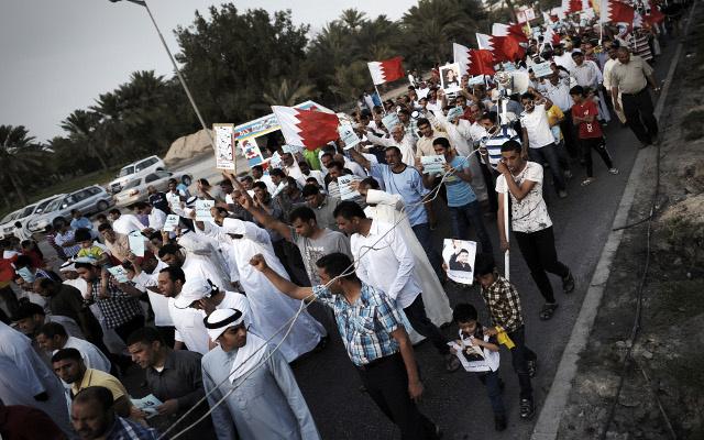 تظاهرة للمعارضة البحرينية دون شعارات معادية لسباق