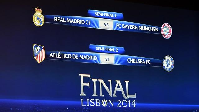 دوري الأبطال .. ريال مدريد يصطدم ببايرن ميونيخ .. وأتلتيكو مدريد بتشيلسي