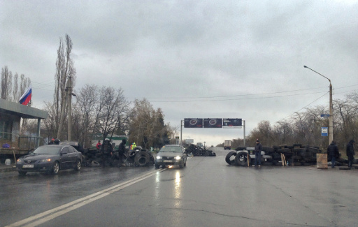 مراقبو منظمة الامن والتعاون الاوروبي تصل مدينة سلافيانسك شرق اوكرانيا