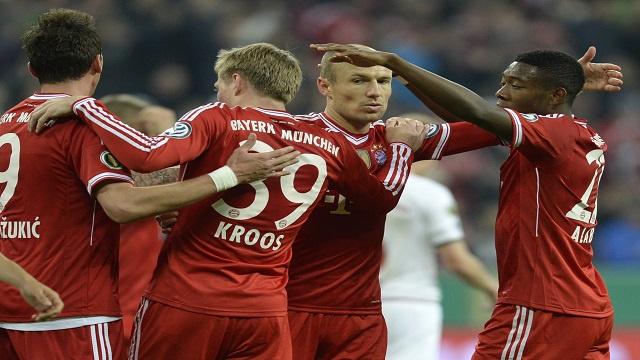 بايرن ميونيخ يقسو على كايزرسلاوترن بخماسية ويبلغ نهائي كأس ألمانيا