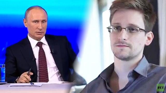 بوتين لسنودن: المخابرات الروسية لا تتنصت على مواطني البلاد على نطاق واسع