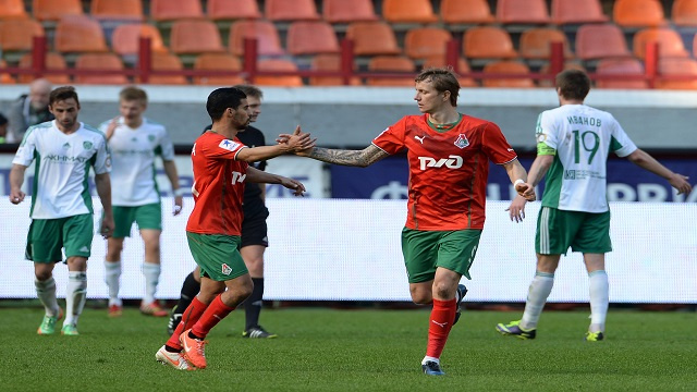 لوكوموتيف موسكو يكرم ضيفه تيريك غروزني بثنائية