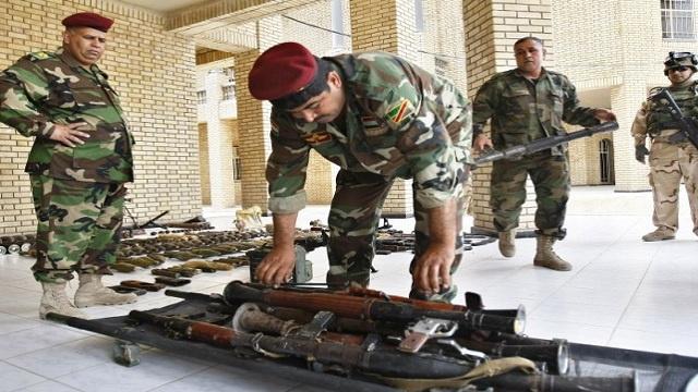 العراق يتسلم 14 مليون قذيفة و7 آلاف قطعة سلاح من الولايات المتحدة