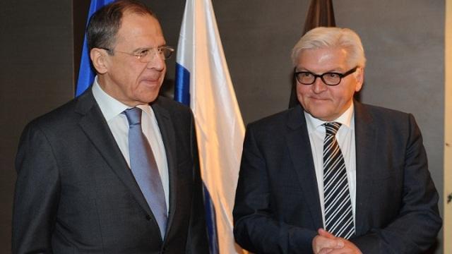 وزيرا خارجية روسيا وألمانيا يبحثان هاتفيا الأزمة الأوكرانية