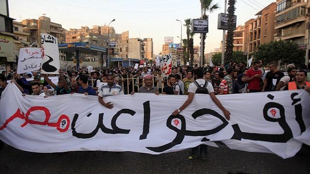 مصر.. مظاهرات ضد قانون التظاهر في محيط القصر الرئاسي