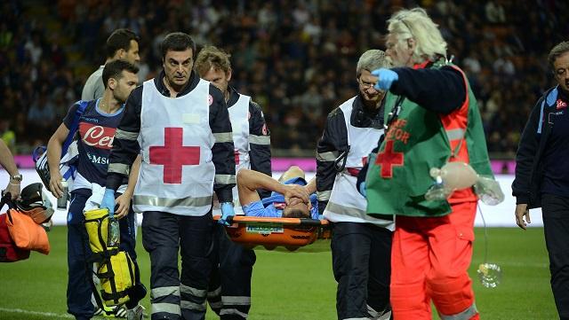 بالفيديو .. هيغواين يتلقى إصابة قوية قد تحرمه من مونديال 2014