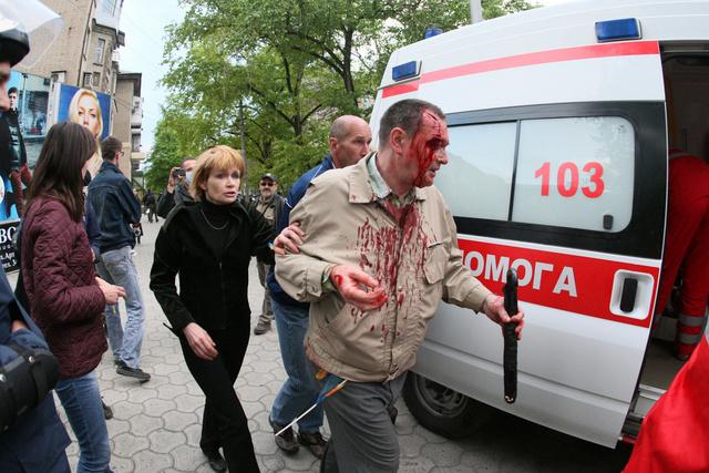 اصابات في اشتباكات بين مؤيدي الفدرالية ومتطرفين في دونيتسك شرق أوكرانيا