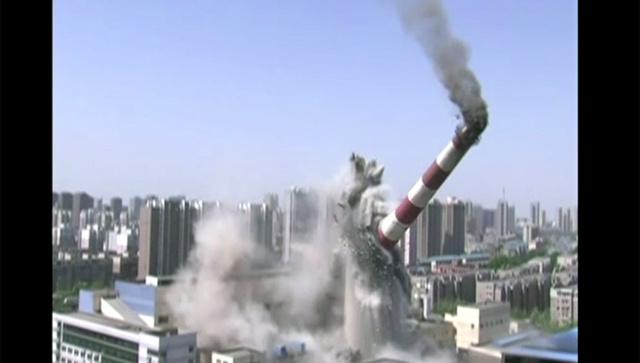 بالفيديو...حملة تدمير المداخن لمكافحة تلوث البيئة في الصين