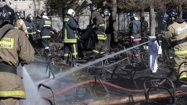 10 قتلى جراء حريق في مخزن للذخيرة بسيبيريا