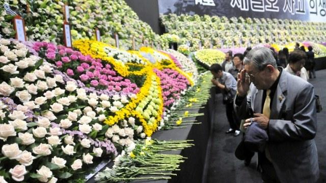 حصيلة ضحايا غرق العبارة الكورية الجنوبية تبلغ 230 شخصا