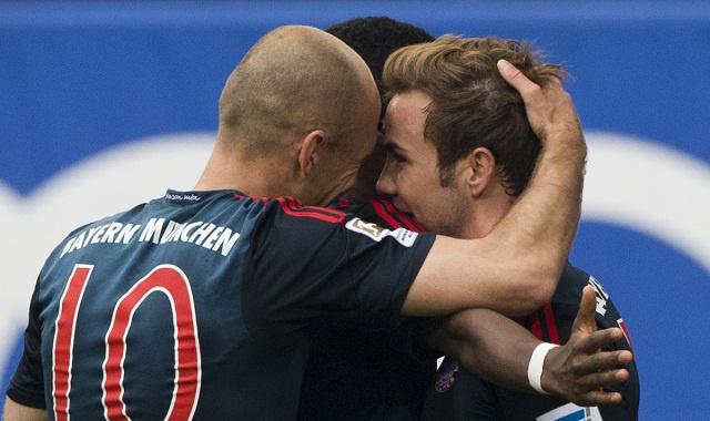 غوتسه يهدي بايرن موينخ فوزا عريضا على هامبورغ 4 – 1 ويخفف من مآساة دوري الأبطال